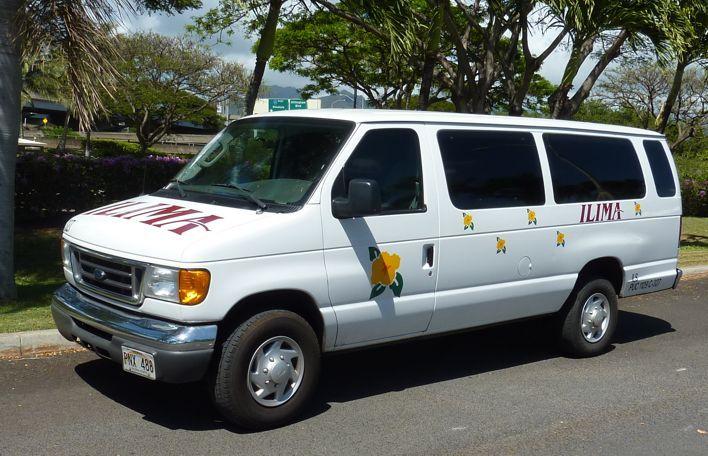 Ford Passenger Van >> Ilima Tours & Transportation - Pop Up 11 Passenger Van